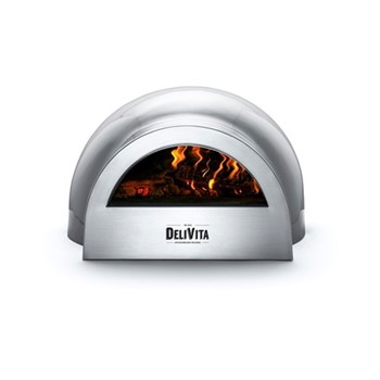 Wood-fired outdoor oven, H35 x W59 x D59cm, hale grey