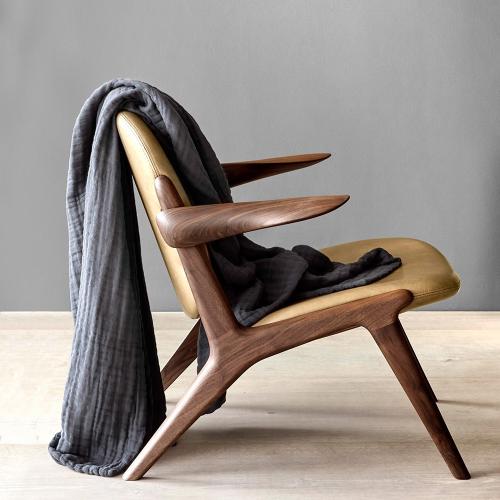 Joy Vasiljev Six Layer Soft Blanket Dark Grey, H200 x W140cm, Dark grey