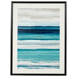 Framed print, H80 x W60cm, blue