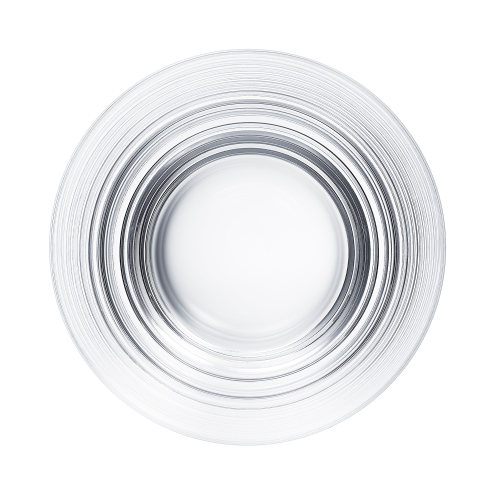 Oxymore Medium tumbler, H9 x D8.7cm, clear crystal