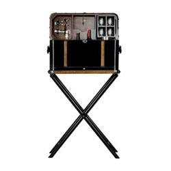 Picnic Box Ceylon Bar storage, H103.5 x W25 x L60cm, mahogany, brass