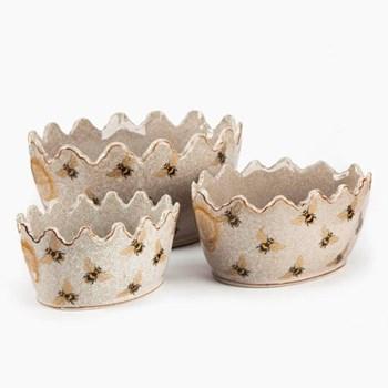 Set of 3 crown planters