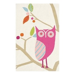 What a Hoot Rug, 90 x 140cm, candy