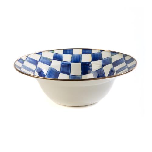 Royal Check Serving bowl, 30cm, Blue & White