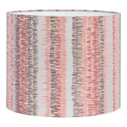 Textured Stripe Drum lampshade, W31 x H24cm, oyster/storm