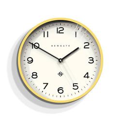 Echo Number Three Wall clock, D 37cm, Yellow