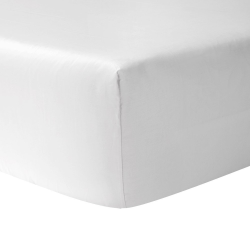 Triomphe - 300 Thread Count Cotton Sateen Super king fitted sheet, 180 x 200cm, blanc