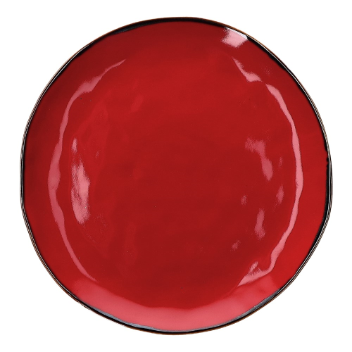 Concerto Pair of round platters, Dia32cm, Fire Red
