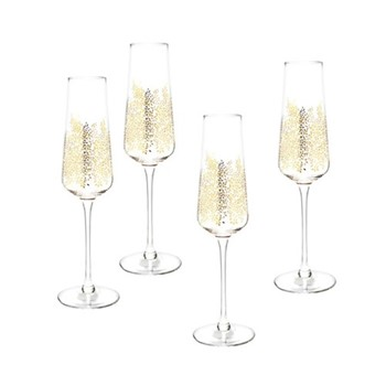 Chelsea Gold Leaf Set of 4 champagne flutes, 0.44 Litre