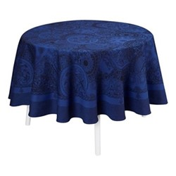 Porcelaine Tablecloth, Dia210cm, china blue