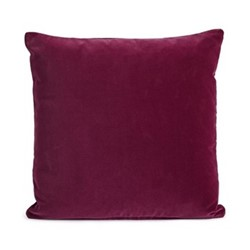 Monroe Square cushion, velvet/berry