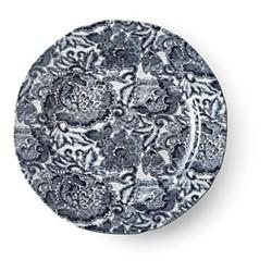 Burleigh - Faded Peony Dinner plate, 26cm, indigo