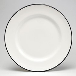 Dinner plate, 26cm, black/white