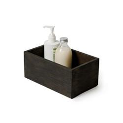 Mezza Storage box, H10 x W23 x D14cm, dark brown