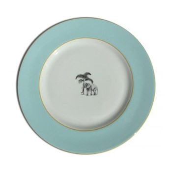 Harlequin - Blue Elephant Tea plate, D16.5cm, blue