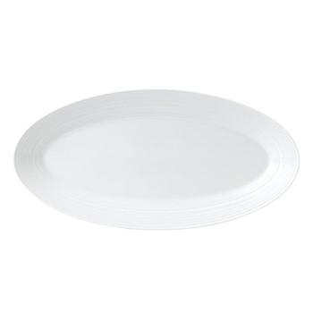 Jasper Conran - Strata Oval platter, 21.5 x 39cm, white