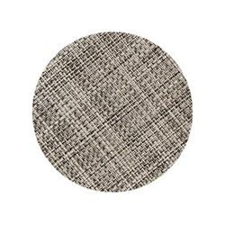 Mini Basketweave Set of 4 round coasters, 10cm, gravel