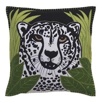 Cheetah Cushion, 46 x 46cm, black