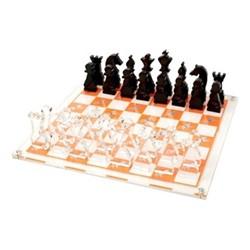 Horse Chess board, W35.6 x D35.6 x H2cm, orange