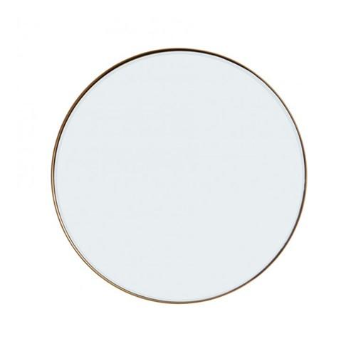 Round mirror, Dia76cm, Antique Brass