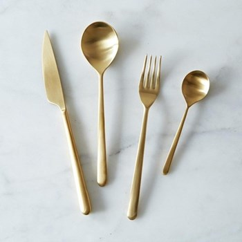 Linea Oro Ice Table fork, gold