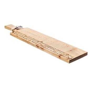 Long sycamore antipasti paddle L65 x W15 x H2cm