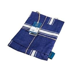 Apron, L94 x W79cm, navy blue cotton