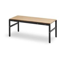 Reform Bench, W110 x D40 x H43.5cm, anthracite black