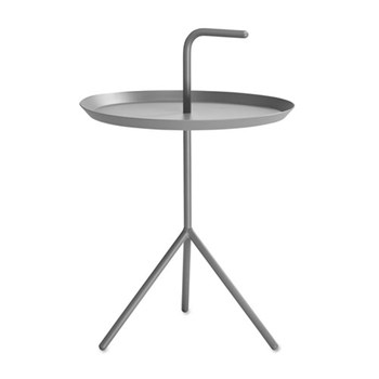 DLM Side table with handle, H58 x W38 x D38cm, grey