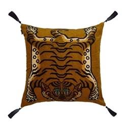 Saber Large velvet cushion, 60 x 60cm, gold