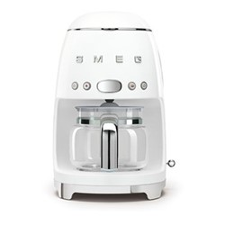 50's Retro Style Drip coffee machine, H33 x W15.5 x D33cm, white