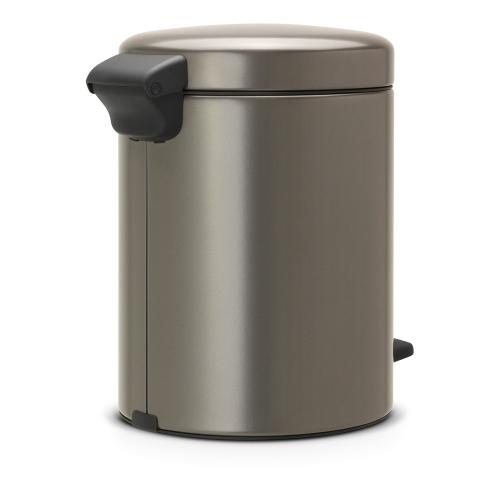 newIcon Pedal bin, 5 litre, Platinum