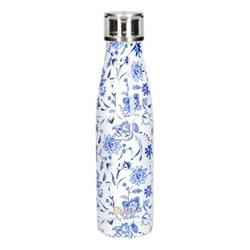 Water bottle, 500ml, blue floral
