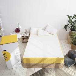 The Original King size mattress, 200 x 150 x 25cm, White/Yellow