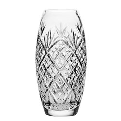 Edinburgh Medium barrel vase, 23cm, Clear