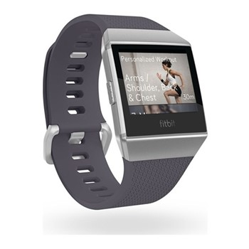 Fitbit Ionic Smart watch with heart rate monitor, W10.3 x D4.8cm, blue-grey & white