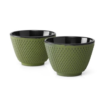 Xilin Pair of tea mugs, green