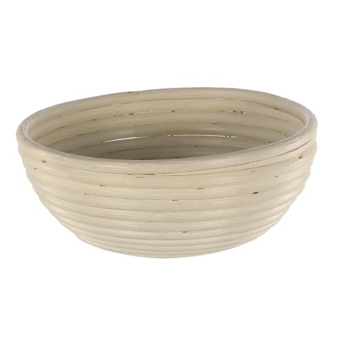 Round banneton basket, 25 x 8cm, Natural Cane