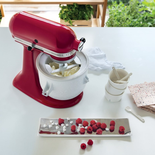Ice cream maker attachment, stainless steel