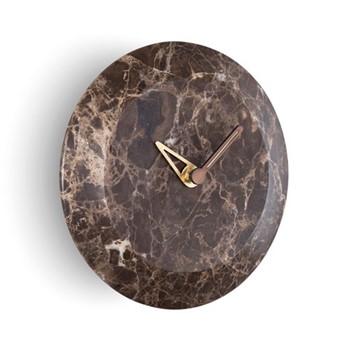 Bari S Emperador Wall hanging clock, D24cm, emperador marble