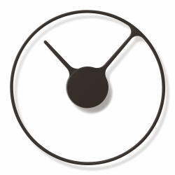 Stelton Time Wall clock, 30cm, Matt Black Aluminium
