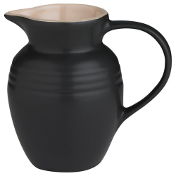 Stoneware Jug, 600ml, Satin Black