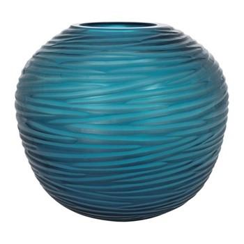 Rope Effect Vase, W22 x L22 x H20cm, midnight blue