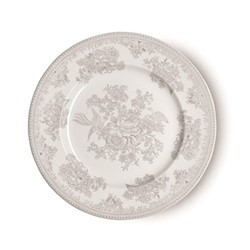 Dove Grey Asiatic Pheasants Large plate, 29cm, grey/white