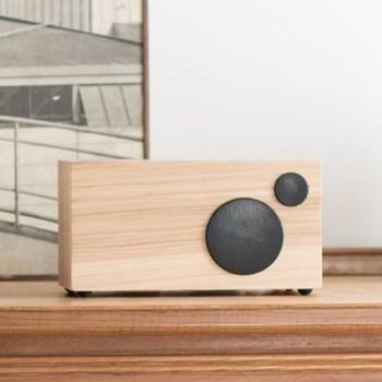 Ambiente Smart speaker, L24 x W12 x H12.5cm, hickory black