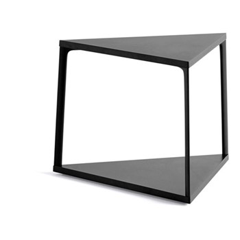 Eiffel Triangular side table, L52 x W52 x H38cm, ink black