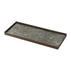 Fossil Organic glass tray - large, 46 x 18 x 3cm