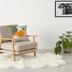 Quad sheepskin rug L170 x H105cm