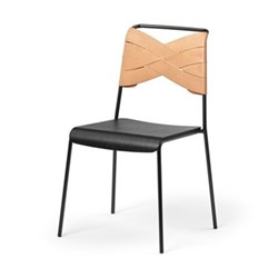 Torso Chair, 52 x 55 x 84cm, black/natural