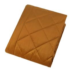 Diamond Velvet bedspread, W140 x L200cm, Mustard